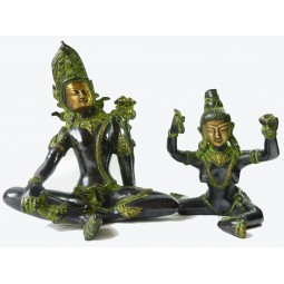 Couple Tantrique - Shakti (25cm) Bronze Antique