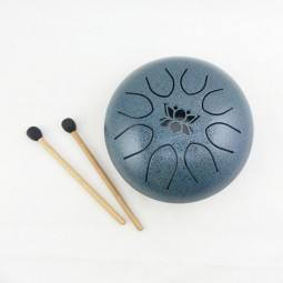 Mini UFO Tongue Drum Bleu Diamètre 16cm