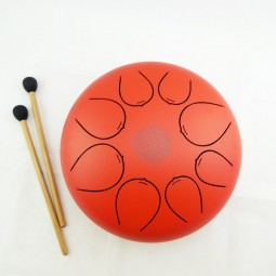 Tongue Drum Flower Rouge Diamètre 25cm